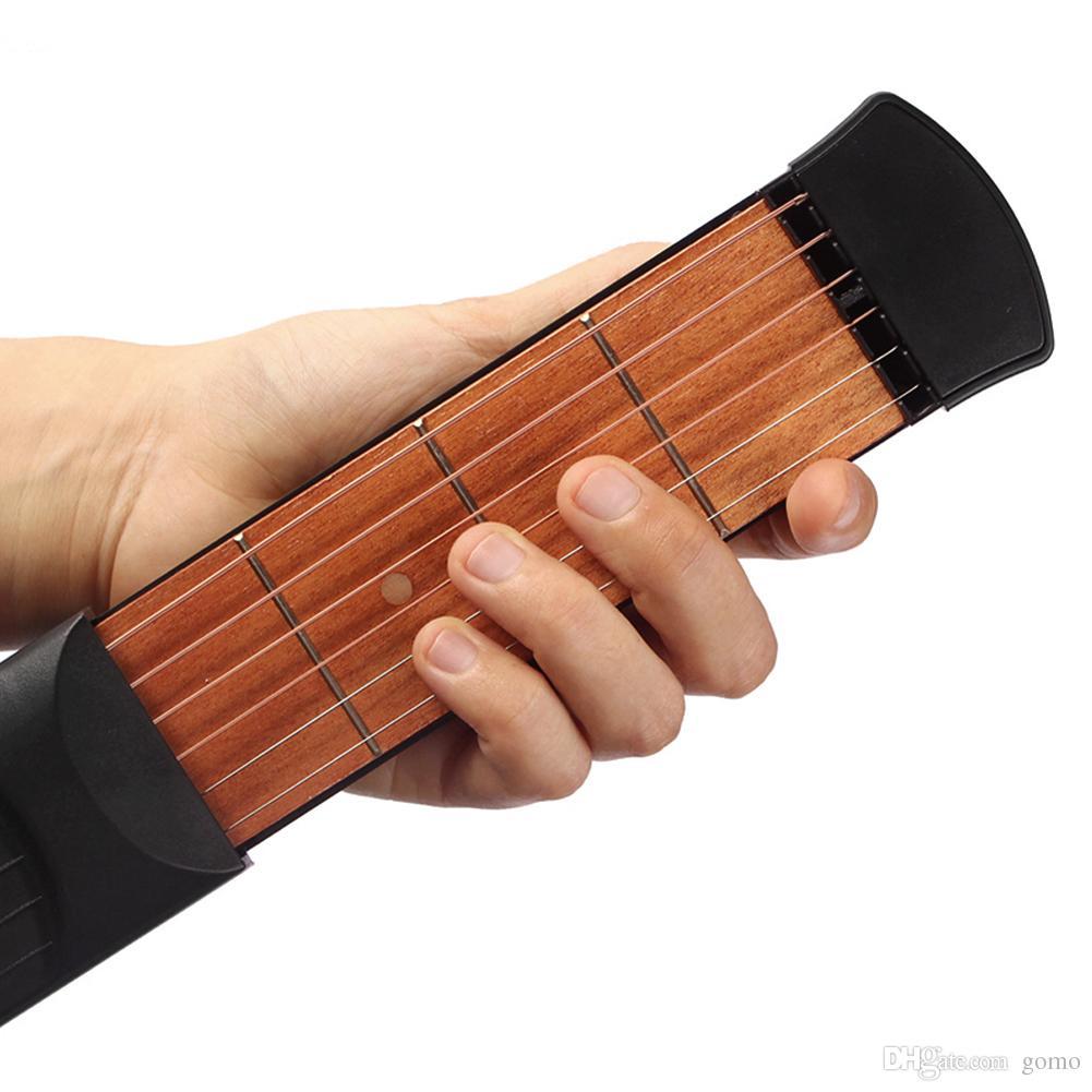 Crianças Brinquedo Musical Educacional 6 Fricções Cordas de Bolso Prática de Guitarra Gadget Modelo com Saco Pick Para Aprendizagem de Música Iniciante