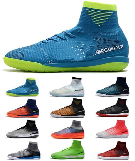 Nike Mens Mercurial Superfly V SX Sapatos de Futebol Neymar IC Sapatos de Futebol Cristiano Ronaldo CR7 ACC Botas de Futebol Botas de Futebol de Meninos