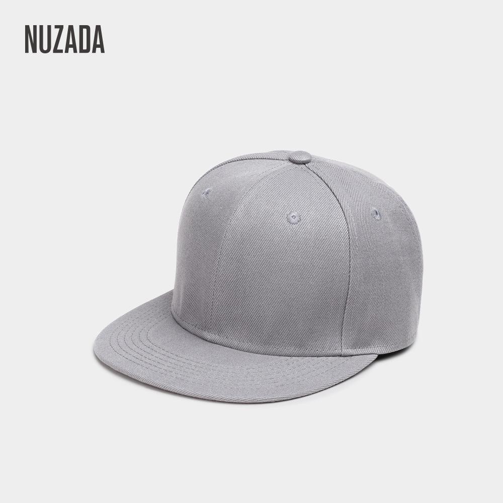 NUZADA New Solid Color Baseball Cap Korean Version Flat Along Board Hat Men Hip-hop Hat Manufacturer Wholesale