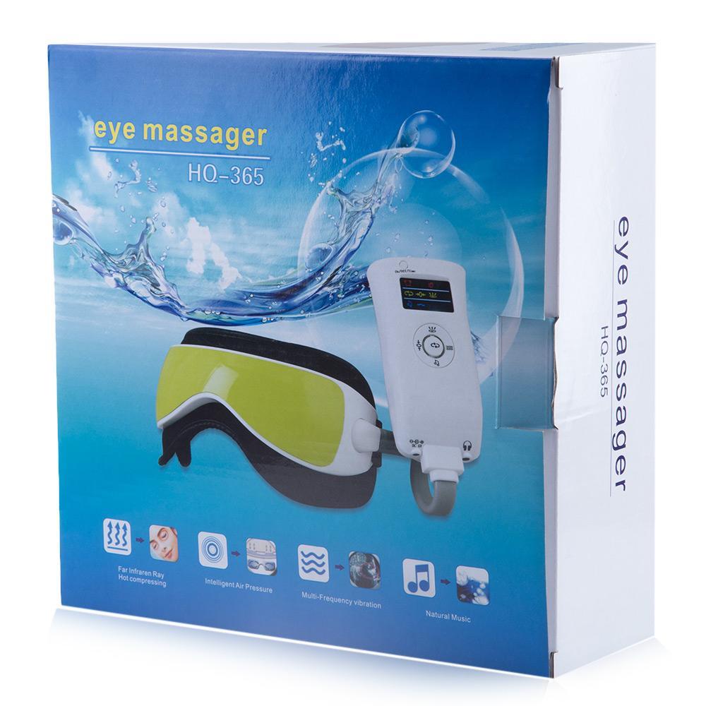 Masseur oculaire à pression atmosphérique Gustala New avec MP3 6 fonctions Dissiper les poches des yeux Eye Magnetic infrarouge lointain chauffant soin