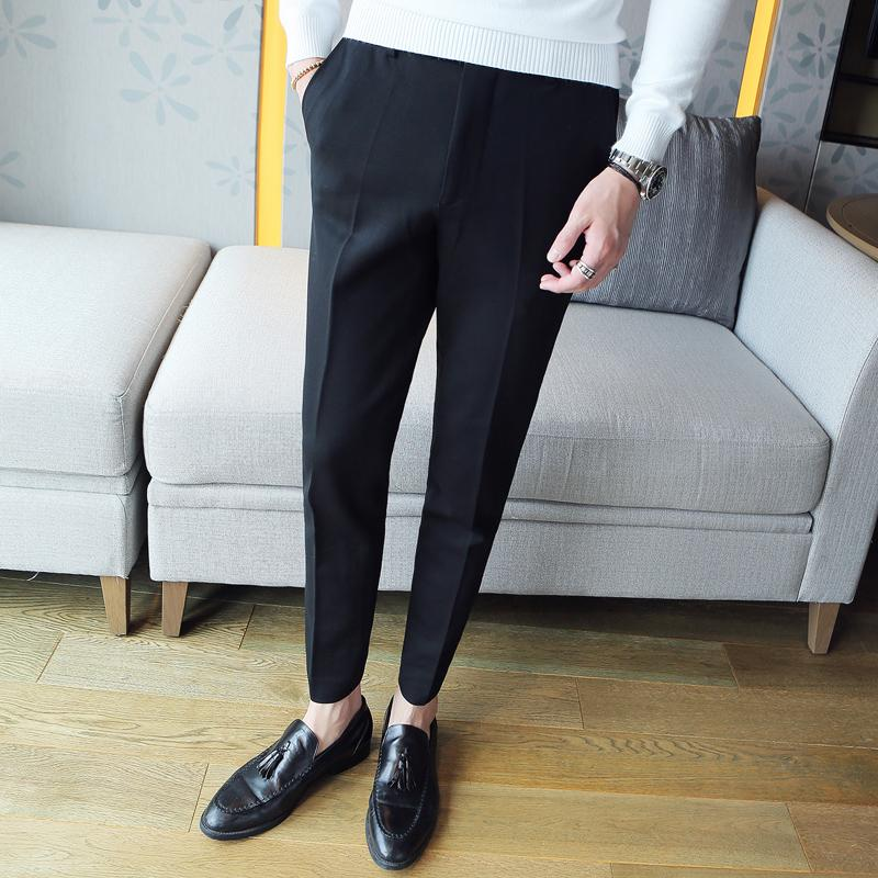 zapatos deportivos b6b4b 72a30 2019 Pantalon Hombre Vestir Dress Pants Mens Grey Formal Pants For Mens  Black Suit Slim Fit Business Men Trousers Formal Social From Piaocloth, ...