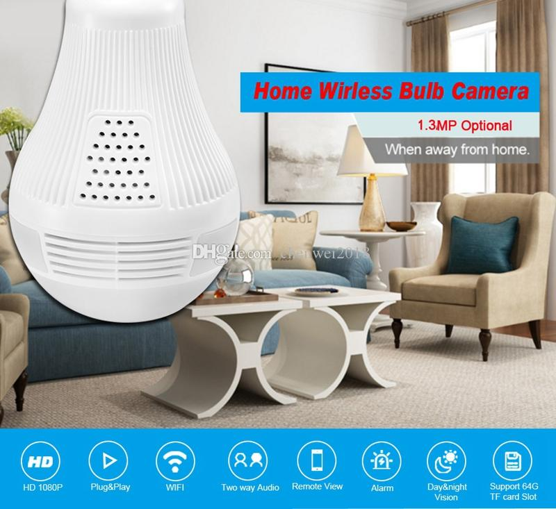 LED Bulb Light WIFI IP Camera 360 Degree 3D VR Panoramic Camera Wireless Smart House Baby Monitor Home security CCTV Camera