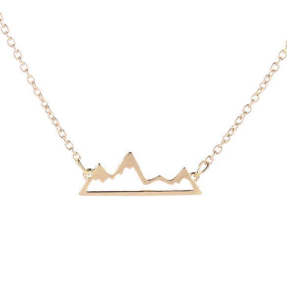 Mejores ventas calientes y de moda ahuecados picos de las montañas colgante collar de cadena de clavícula exquisita fábrica joyería directa al por mayor