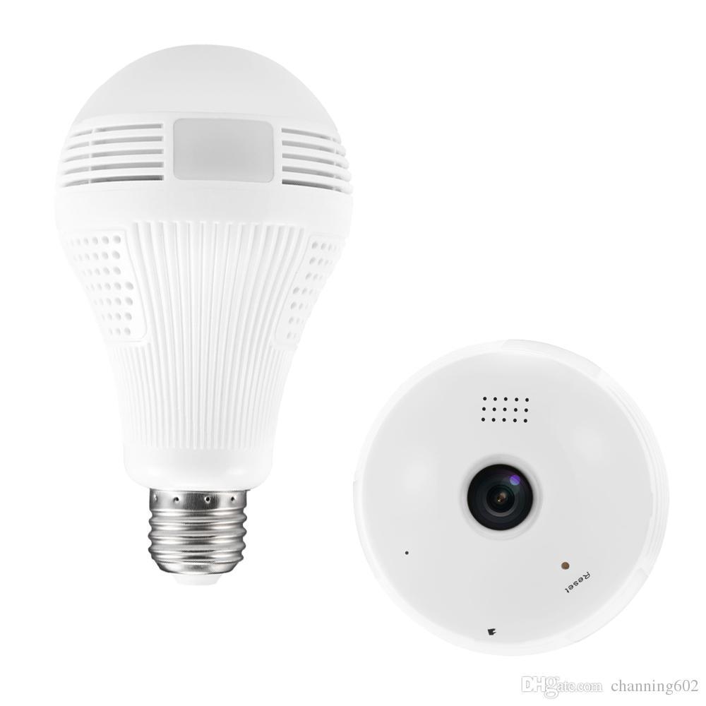 360 grados cctv productos 1.3 M VR bombilla IP cámara WIFI Mini 960 P HD sistema CCTV inalámbrico Soporte 128 GB TF tarjeta