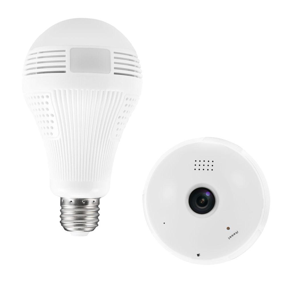 360 degrés produits cctv 1.3M VR ampoule lumière caméra IP WIFI Mini 960P HD sans fil système de télévision en circuit fermé soutien 128Go carte TF