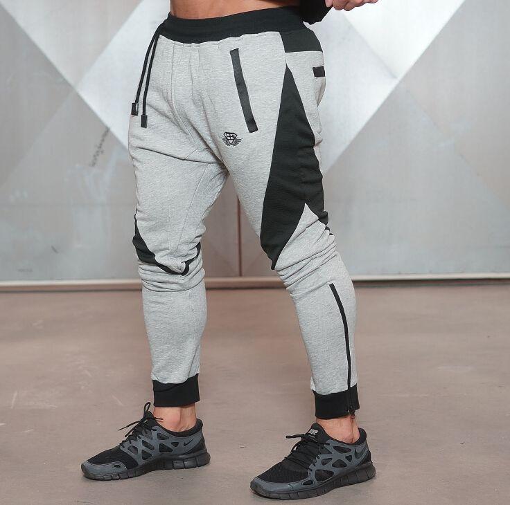 Vêtements pour hommes Nouvelle médaille d'or Sports Fitness Pantalon Fitness Coton Pantalon de jogging pour hommes