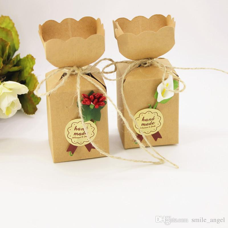 New Wedding Vintage Favor Boxes Vase Candy Box With Flower Originality Paper Gifts Boxes Baby Shower Party Decoration Hot Selling