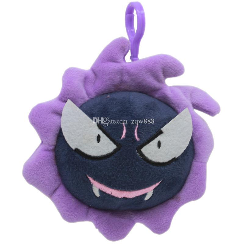 High Quality 100% Cotton 4inch 10cm Gengar Keychain Plush Toy For Child Holiday Gifts Wholesale