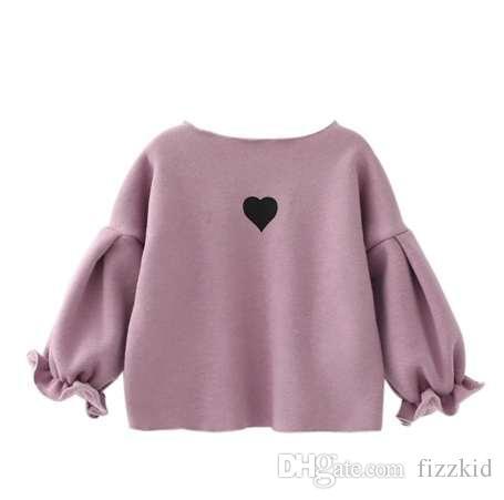 Winter warme Kleidung niedlich Sweatshirt für Mädchen Kid Langarm Puff Mädchen Tops Kinder