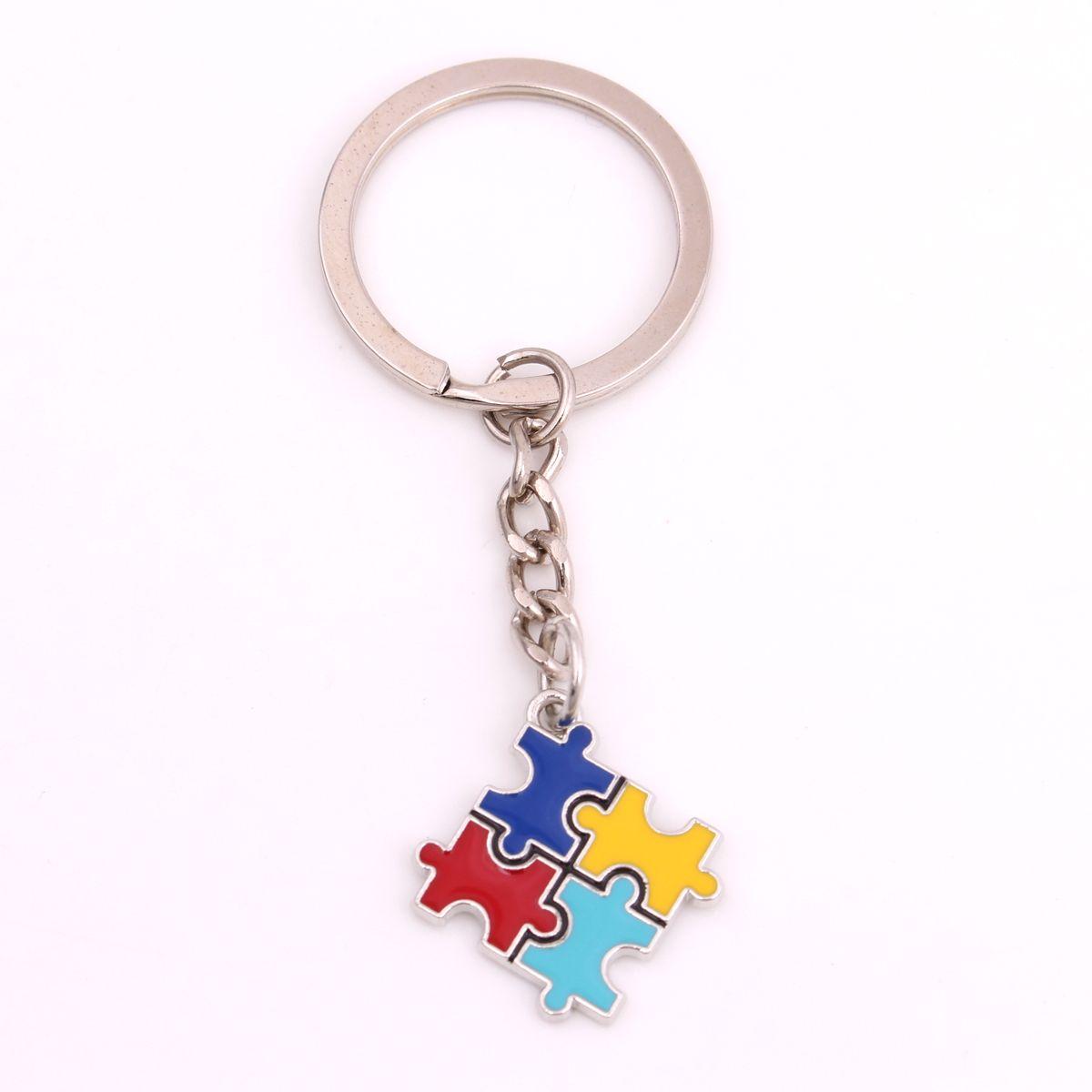Autismus Bulmaca Charm Anahtarlık Farkındalık Renkli Schlüsselanhänger Geschenke