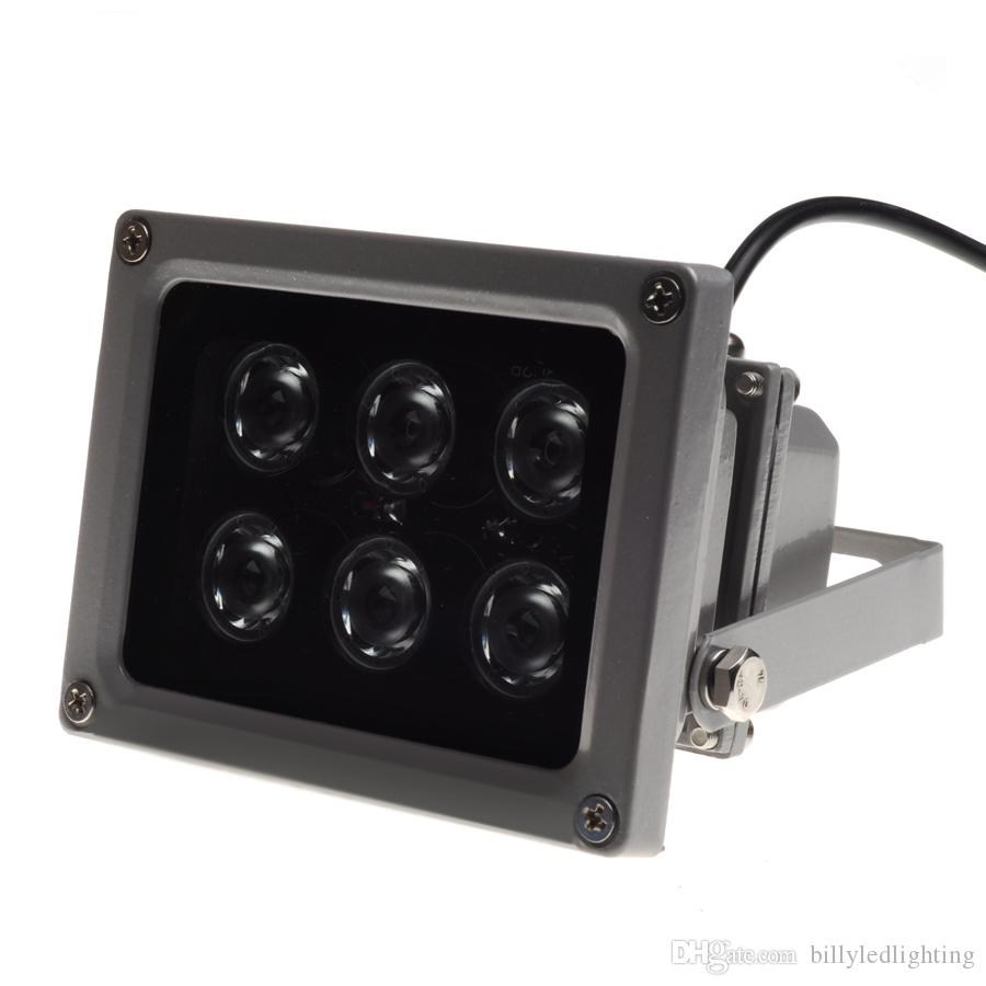 IR illuminator infrared lamp Night Vision for CCTV Camera 45° 60° 90° 6pcs LED IP65 grey color AC 85-265 Volt best price