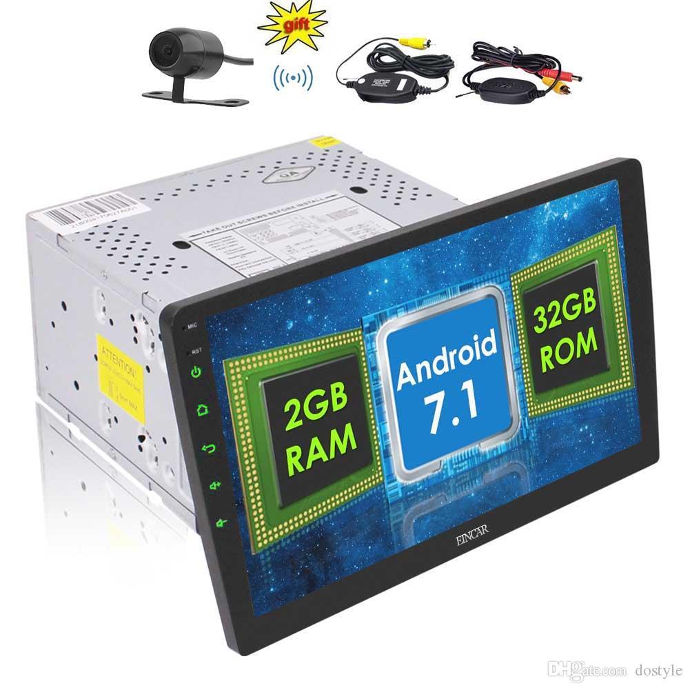 Eincar Autoradio 더블 2 Din Car Radio 10.1 '헤드 유닛 차량용 스테레오 안드로이드 7.1 Nougat OS Octa-Core 2GB + 32GB GPS 미러 블루투스