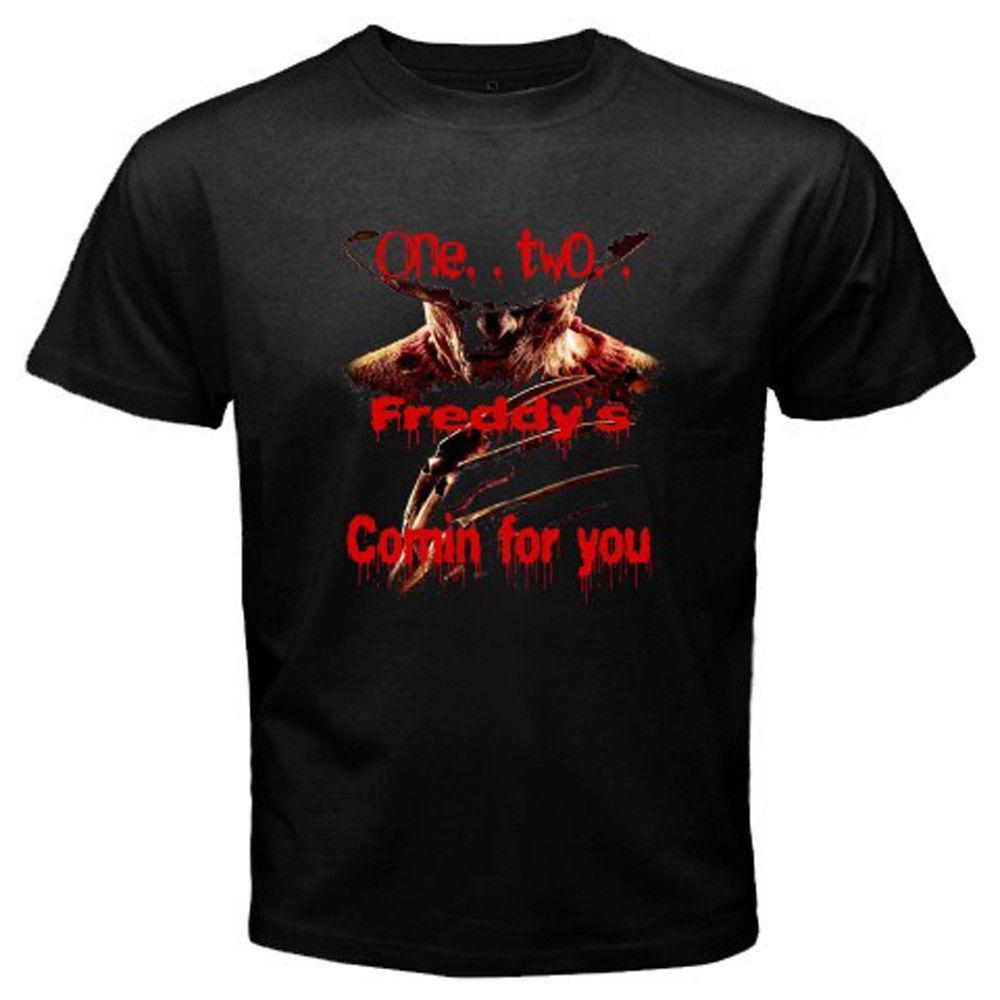 Freddy Krueger * Elm Sokak Korku üzerinde bir Kabus erkekler Siyah T-shirt Boyutu S-3xl T Gömlek Erkekler 2018 Moda Üst Tee