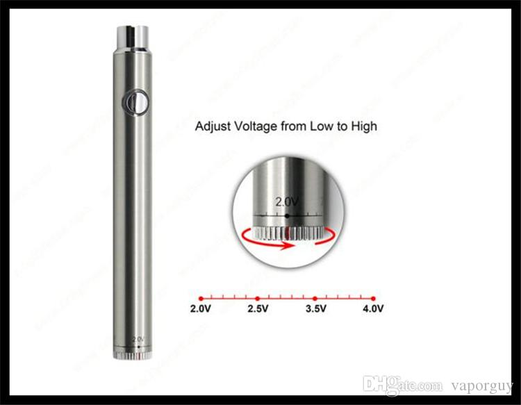 vape pen battery 510 thread voltage adjustable twist e smoking ceramic coil glass tank vaporizer bud touch preheat battery 2018
