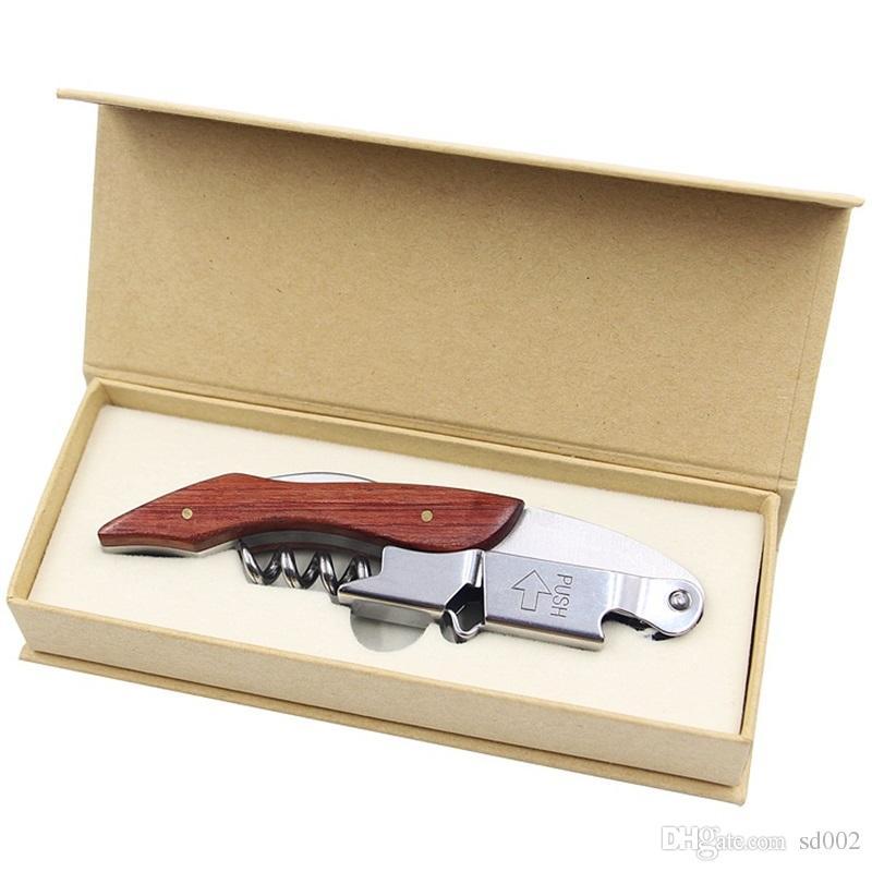Bottle Opener ippocampale coltello di legno acciaio inossidabile può vino rosso apri Multi Function vite Cavatappi Cucina Small Tools 9 5xj VY