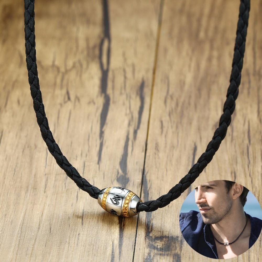 acheter collier cuir homme