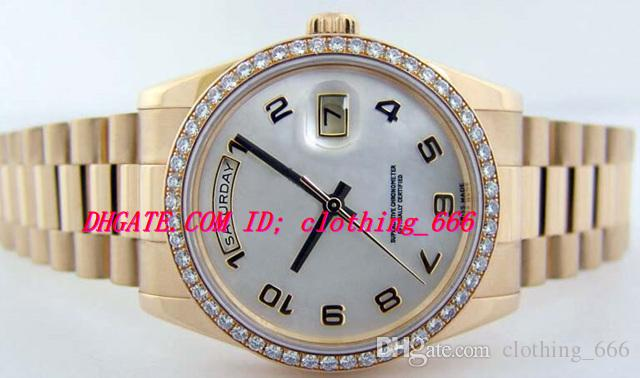 Luxury Watches Stainless Steel Bracelet Gold Mother of Pearl Diamond Bezel 118348 - WATCH CHEST 39mm Mechanical Automatic Men's Wristwatch