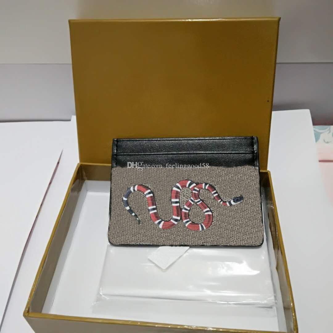 2019 новые женщины / мужчины известный бренд Мини кошельки короткие женские короткие держатели карт clemence животных печати кошелек с коробкой высокое качество