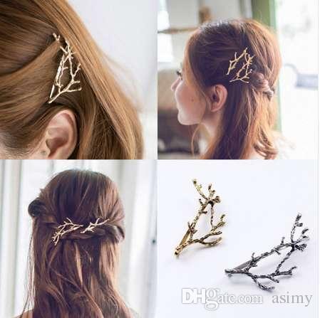 M MISME Élégant En Métal Branche D'arbre Épingles À Cheveux Pinces À Cheveux Pour Les Femmes Barrettes Chapeau Femme Alliage Accessoires De Cheveux Clip de Cheveux Nouveau