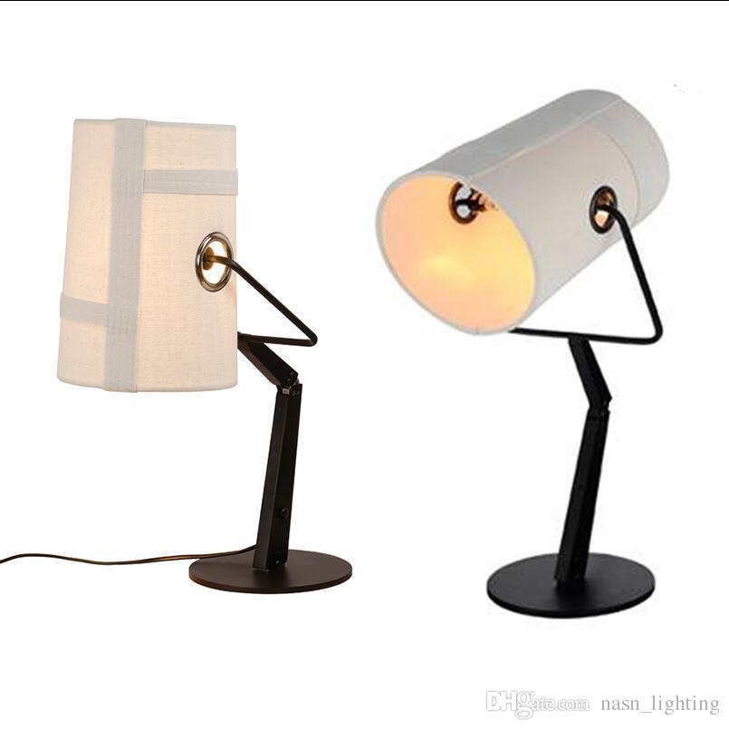 Moderna ajustable R7S 100W diesel Foscarini Fork negro / marfil luces de lámparas de mesa para sala de estudio sala de Marfil Tela luz lámparas de escritorio