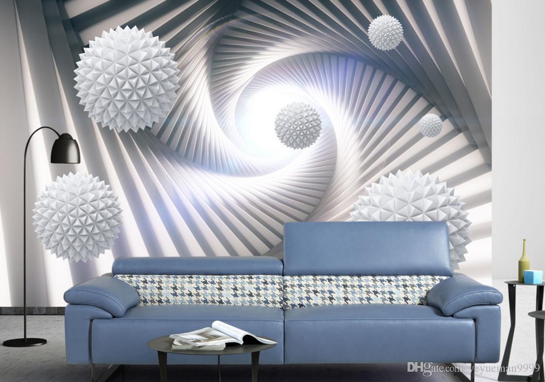 Personalizzato casa miglioramento Palla camera da parati carta da parati soggiorno tv sfondo sfondi 3d muro