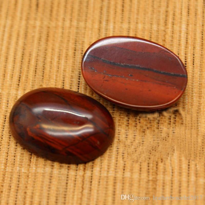 Red Jasper Crystal Healing Worry Stone - جيب بالم ستون الأحجار الكريمة الطبيعية غير النظامية كابوشون لصنع المجوهرات أو للهدايا مهرجان