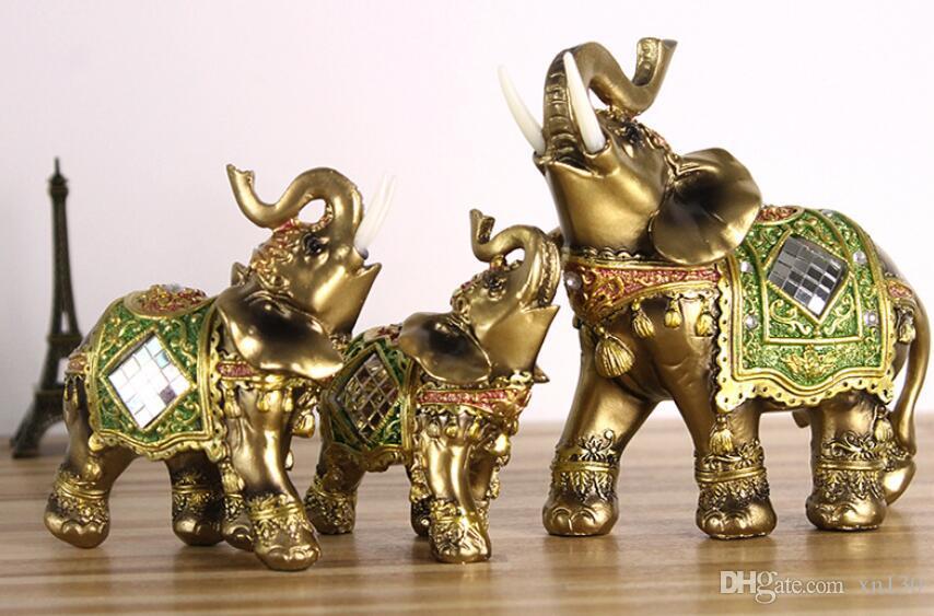 NEW   ELEPHANT TRUNK STATUE  FENG SHUI FIGURINE DECOR  NICE GIFT A