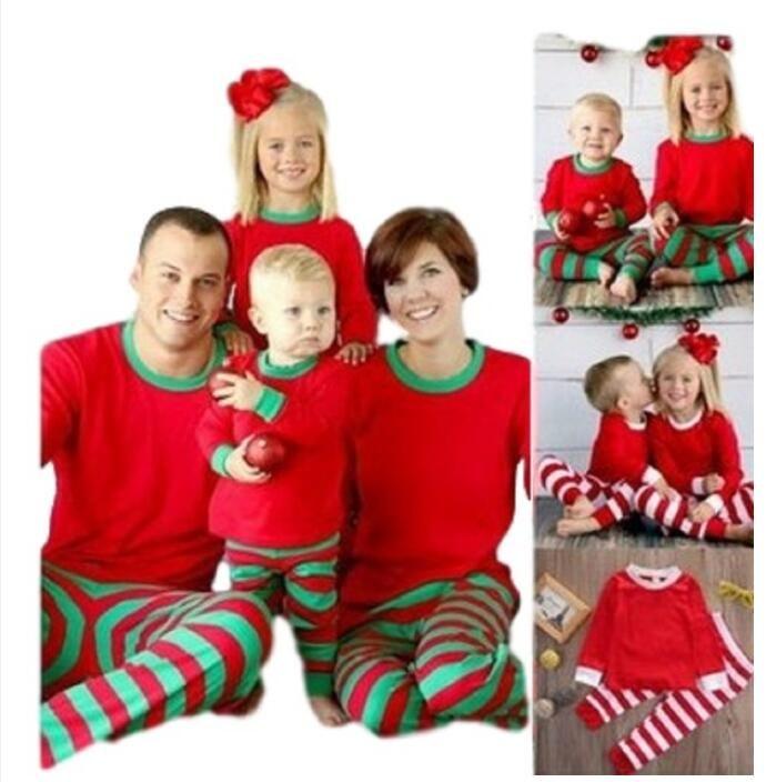 최신 도착 핫 패밀리 크리스마스 잠옷을 일치하는 성인 어린이 잠옷 Nightwear 사랑스러운 일치하는 복장 홈 옷