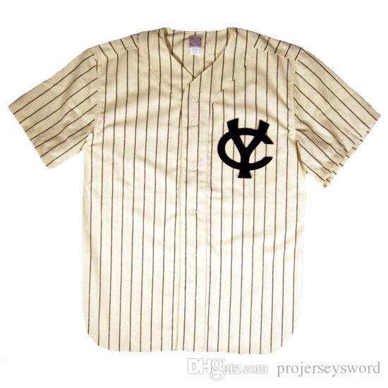 Columbus Confederate 1965 Home Jersey 100% bordado cosido Logos Vintage Baseball Jerseys Custom Cualquier nombre Cualquier número Envío gratis