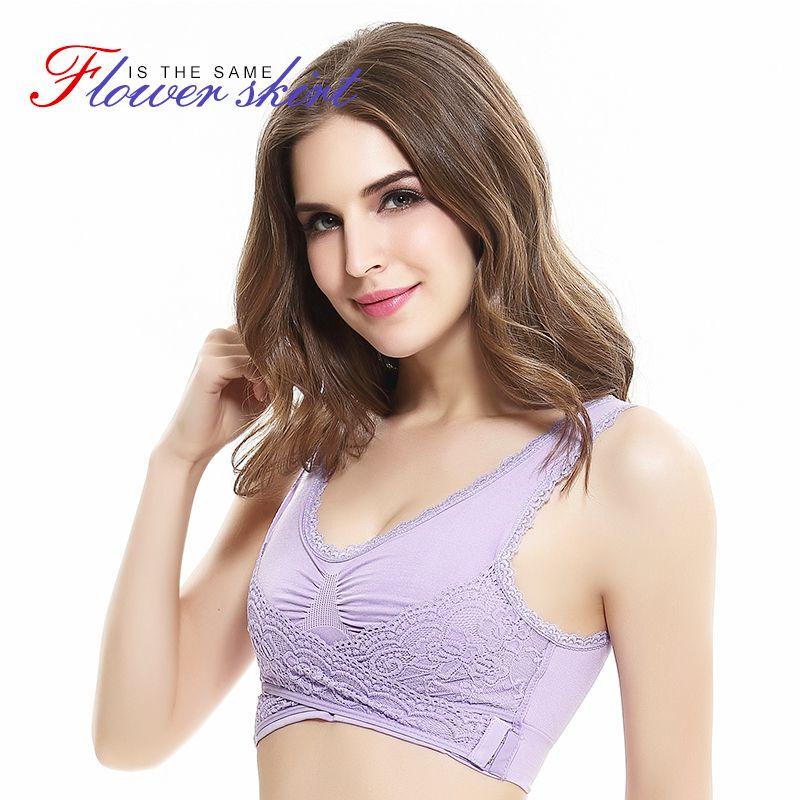 GRMANE Lace Push Up Bras Woman Underwear Lingerie Fitness Female Seamless Bralette Intimates Wireless Shockproof Padded Bra