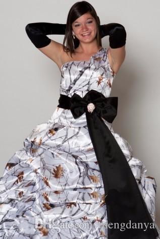 Venta al por mayor Un hombro Vestido de boda blanco del vestido de ...