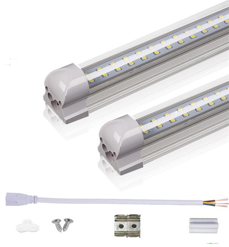T8 LED 튜브 2FT 3 피트 더블 행 통합 LED 전구 18W 28W SMD2835 조명을 85-265V 형광등 램프를 주도