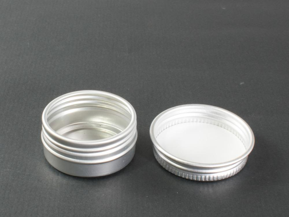 100 pcs 5g high quality glass cream jar with aluminum lids cosmetic container 5cc Small cosmetic packaging glass jar lin3978
