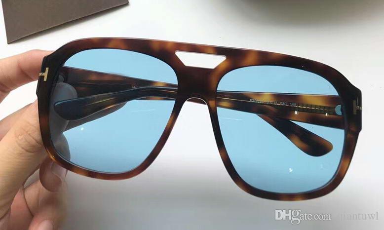 Gafas de sol para hombre Bachardy 02 0630 FT0630 BACHARDY-02 Dark Havana Lenes azules 61MM Gafas para conducir Gafas para conducir Nuevo en caja
