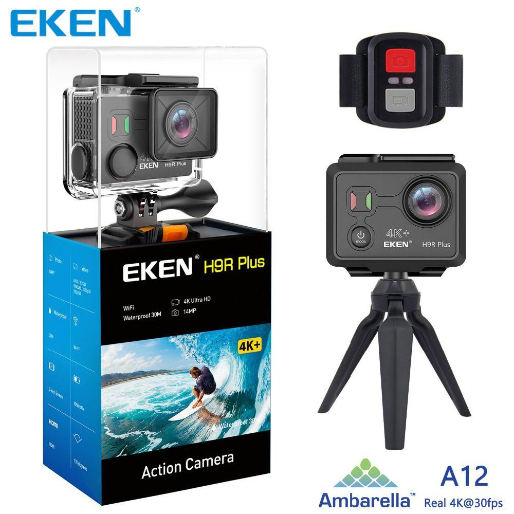 Оригинал EKEN H9 H9R Plus wifi Action Camera Ambarella A12 Ultra HD Real 4K 30 кадров в секунду 14MP фото для Panasonic водонепроницаемый спорт Cam