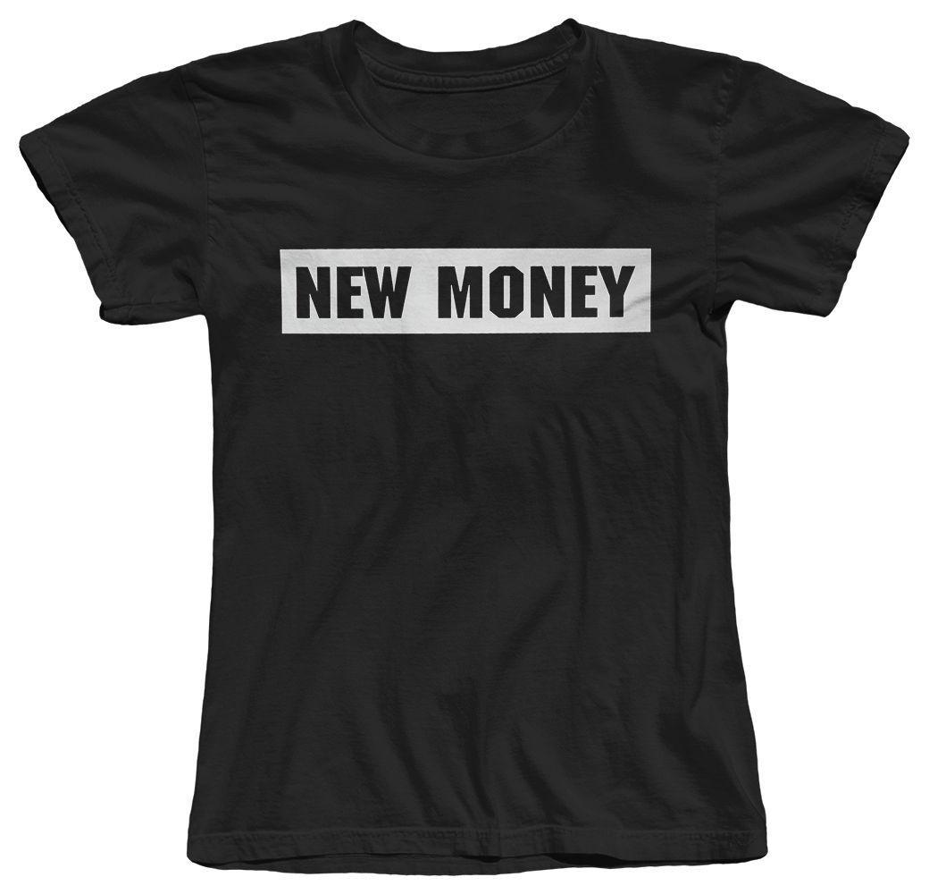 Women 's Tee New Money 새로운 리치 퍼니 여성 티셔츠 T- 셔츠 반팔 코튼 디자인 T 셔츠 참신 탑스 고품질 숙녀