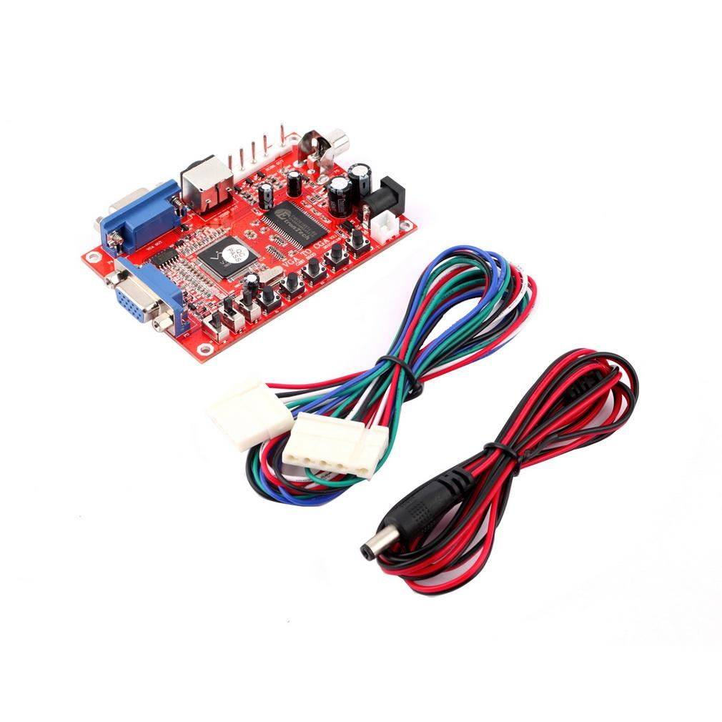 Freeshipping 1pcs Professional VGA to CGA/CVBS/S-VIDEO Converter Arcade Game Video Converter Board for CRT LCD PDP Monitor High Definition