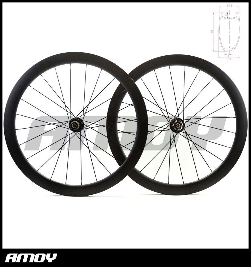 الكربون القرص 700c 50 ملليمتر الفاصلة الكربون العجلات عجلات الطريق cyclocross الدراجة دراجة قرص الفرامل مراكز العجلات