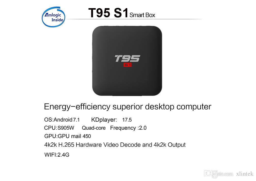 TV-Box T95 S1 Amlogic S905W 1gb ram 8 GB ROM android tv os Smart TV Box T95S1