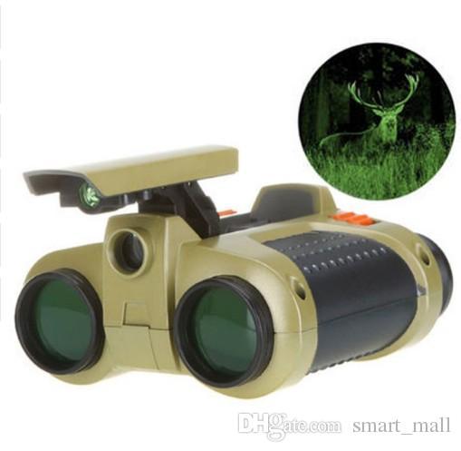 4x30 Dürbün Teleskop Pop-up Işık Gece Görüş Kapsam Dürbün Yenilik Çocuk Çocuk Çocuk Oyuncakları Hediyeler LLFA