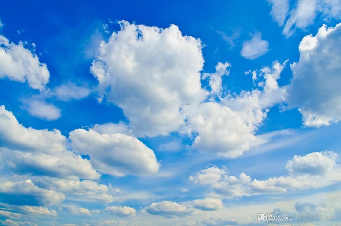 3d wallpaper benutzerdefinierte foto decke wandbild wallpaperBlue Sky White Cloud zenith Wandbild Wohnzimmer Schlafzimmer Dach Große Sternenhimmel tapete