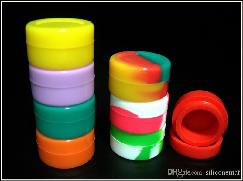 Nonstick Wax Containers Silikonowe pudełko 5 ml Silikonowa Kontener Grade Słoiki DAB Narzędzie Uchwyt Słoik Na Olej do Vaporizer Vape FDA zatwierdzony