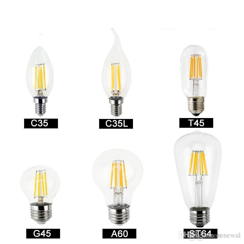 Dimmbare LED-Glühlampen Filamentlampe 4W 8W 12W 16W Hochleistungsglas Globus Birne 110V 220V 240V Retro LED Edison Lampe Kerzenlichter