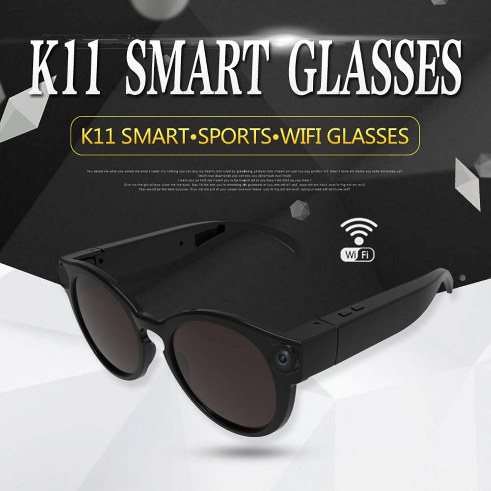 Wearable Smart Glasses Camera DVR WiFi Sunglasses 1080P Video Recorder Glasses Camcorder for Android IOS Smartphone