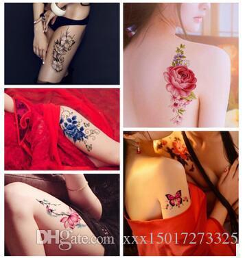 Fleur Oiseau Decal 1 pc Faux Femmes Hommes BRICOLAGE Henné Body Art Conception De Tatouage HB556 Branche D'arbre De Papillon Vivid Temporaire Tatouage Autocollant