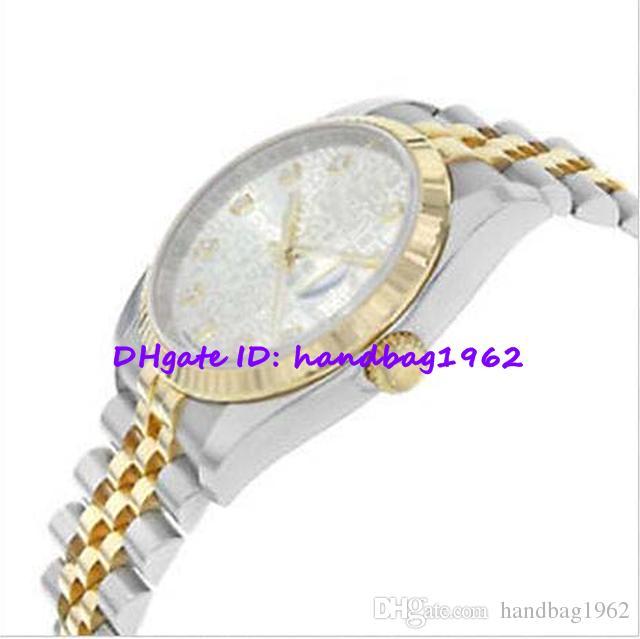 Regalo de navidad Reloj de pulsera para hombre de lujo Certificado original de caja 116233 Diamante de jubileo Dial 18K Oro amarillo 36mm de acero inoxidable