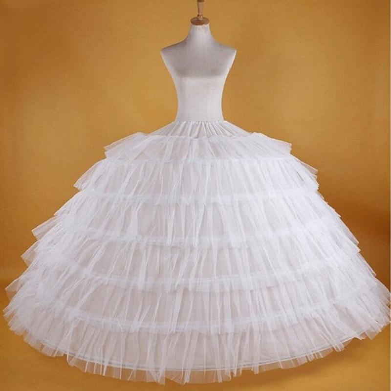 Big White Petticoats Super Puffy di sfera slittamento sottogonna per l'adulto sposa vestito convenzionale Nuovo Grande 7 Hoops lungo Crinoline