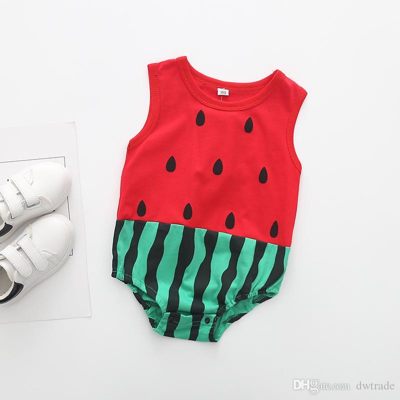 الصيف طفل الكرتون البطيخ الفواكه الحيوان شكل مثلث ملخصات السروال القصير الرضع حتى ملابس الأطفال حللا رقيقة 3 قطع الكثير