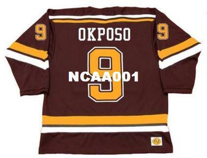 Hommes # 9 KYLE OKPOSO Minnesota Gophers 2007 Maillot de hockey maison CCM Vintage ou personnalisé n'importe quel nom ou numéro de maillot rétro
