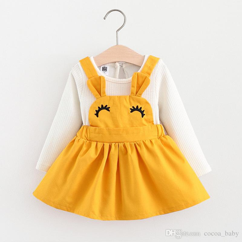 Compre Vestido Para Bebé 2018 Otoño Invierno Ropa Para Bebés Ropa De Manga Larga Princesa Vestido Para Niñas Ropa Para Niños Vestidos De Princesa Para